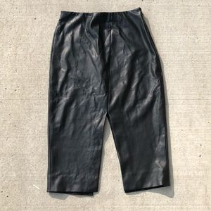 Babaton leather jax skirt